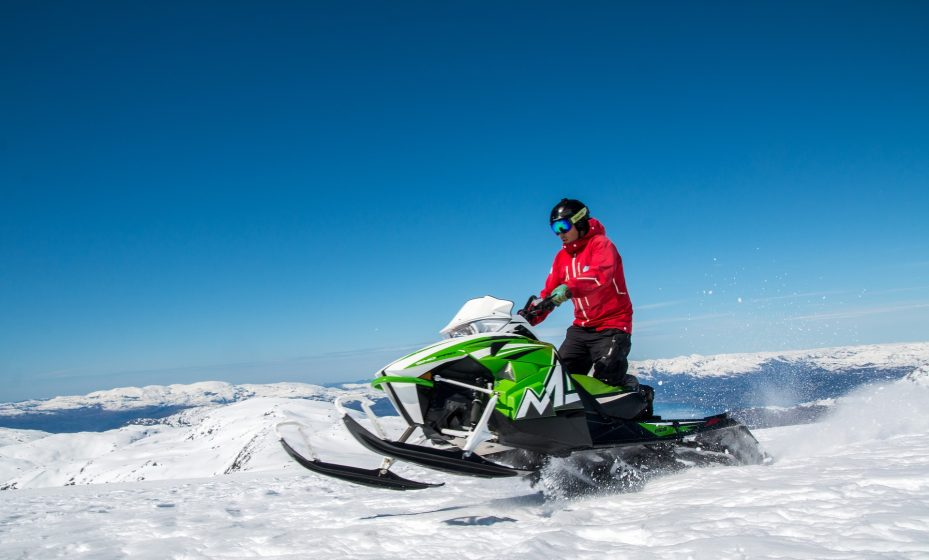 Snowmobiling at Mt. Rainier